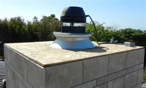 Chimney Exhaust Fan Installation - fireplace systems outdoor masonry brick fireplaces