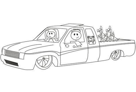 lowrider truck coloring page lowrider truck colouring pages gekimoe 69248