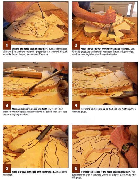 horse portrait relief carving patterns woodarchivist