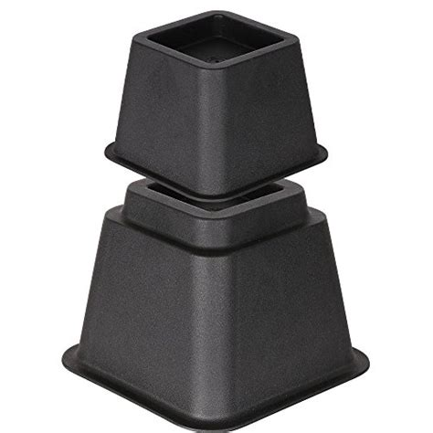 heavy duty bed risers duracasa bed risers or furniture riser 3 inches heavy duty import it all