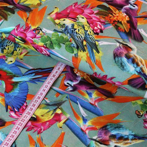 Digitaldruck Jerseystoffe by Jersey Stoff Digitaldruck Paradiesvogel Damen Rauch Mint