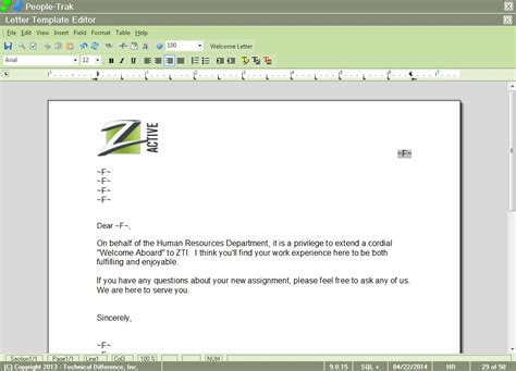 features form letter label editor people trak hr
