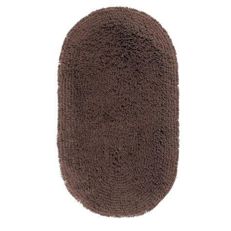 Karpet Oval oval shaped carpet rug 5cm shaggy pile machine washable 75 x 135 cm ebay