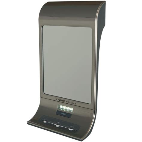 zadro fogless water mirror in stainless steel
