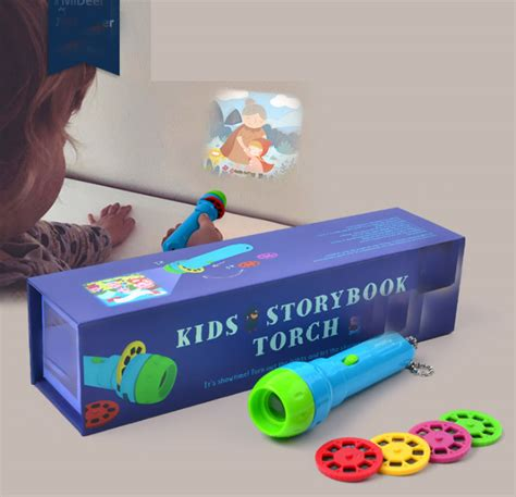 Toys Projectors 4 In 1 mini projector torch educational light up toys for children develop play sleeping stories