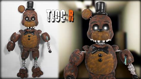 r figure tjoc r ignited freddy posable figure tutorial polymer clay
