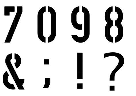 Buchstaben Schablonen Selber Machen by Buchstaben Schablone Inkl Zahlen Unique Stuff
