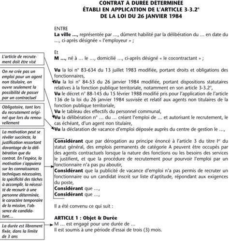 Exemple Lettre De Démission Cdd Fonction Publique Modele Contrat De Travail Fonction Publique Territoriale Document