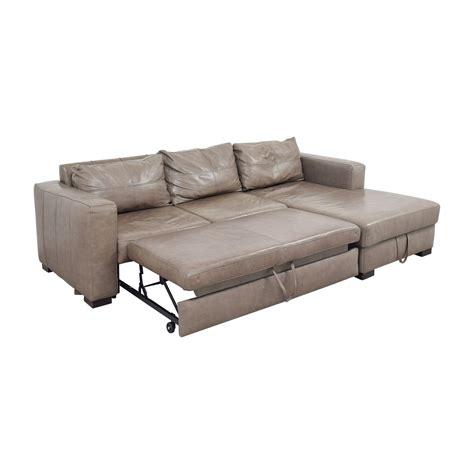 who makes arhaus sofas 81 off arhaus arhaus grey soft leather convertible