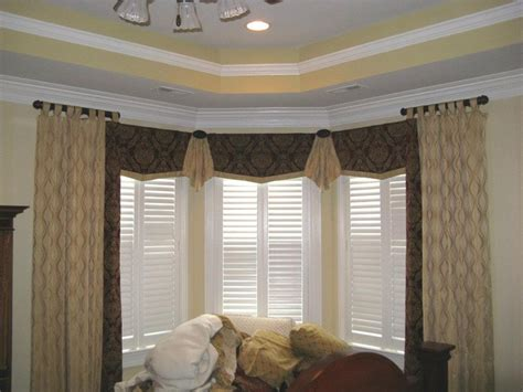 bay window window treatments bay window treatments casual cottage