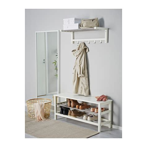 tjusig bench tjusig bench with shoe storage white 108x50 cm ikea