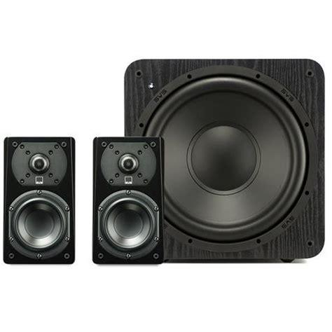 svs prime satellite 2 1 speaker system home theater speakers