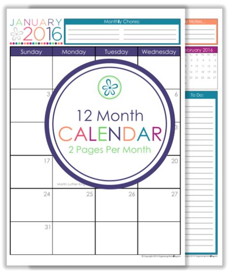 2017 12 month landscape calendar 5 5 x 8 5 legacy 2016 printable planner 2017 organizing homelife