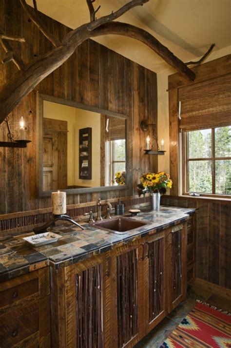 dancing hearts picture perfect hillside escape in montana log cabin bathroom ideas rustic bathrooms designs tjihome