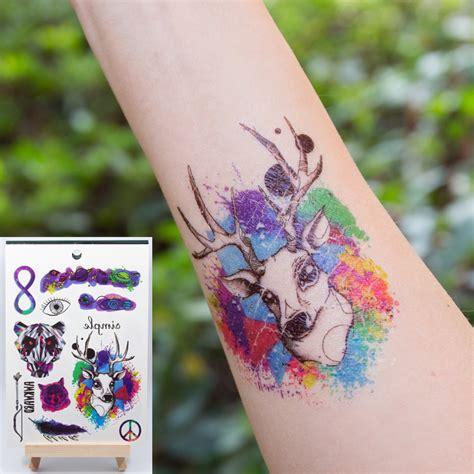 tato alis pakai henna kualitas tinggi serigala tattoo lengan beli murah serigala