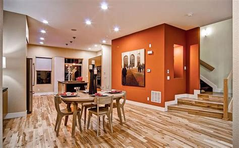 modern dining room decorating ideas orange paint colors and wallpaper