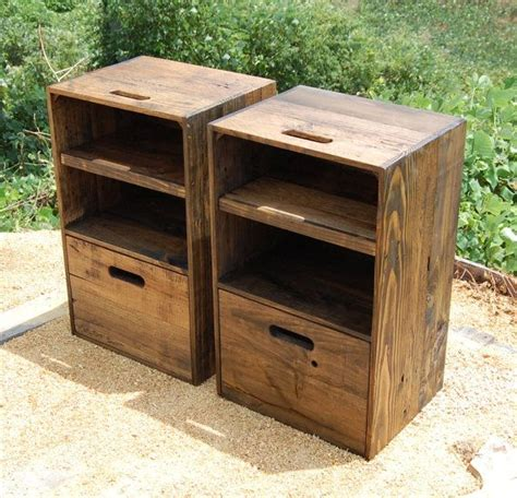 Wooden Crate Nightstand 25 Best Ideas About Crate Nightstand On Pinterest Diy Nightstand Crate Table And College