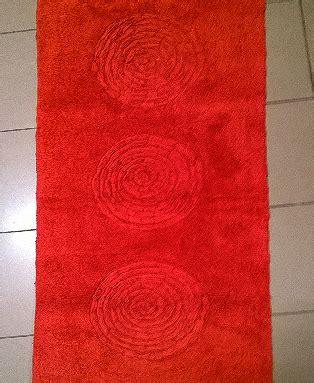 tappeto bagno rosso bagno tappeto bagno modello eclisse variante rosso