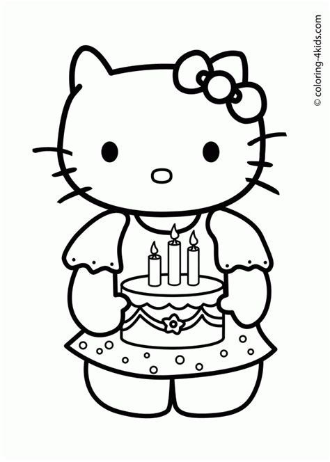 hello kitty birthday coloring pages free to print hello kitty birthday card printable free coloring home