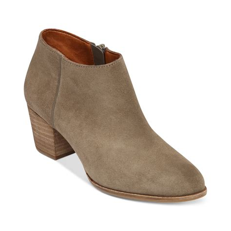 shooties boots lucky brand tolache shooties in brown brindle leather lyst