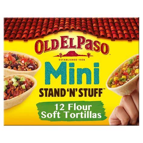 taco boats tesco old el paso mini stand n stuff soft tortillas 145g from ocado