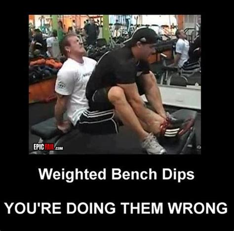 weighted bench dips funny fitness pictures 34 pics