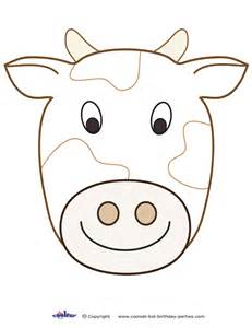 cow mask template cow template www imgkid the image kid has it