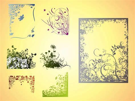 decorazione cornici cornici con fiori decorazioni vettore scaricare vettori