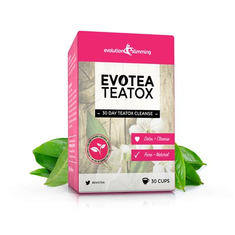 Tea Box Detox by Evotea Teatox Herbal Weight Loss Tea 30 Day Cleanse 30