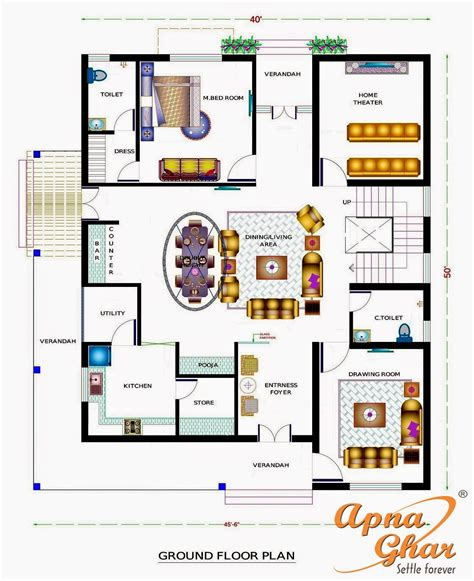 Kitchen Design Floor Plans by Apnaghar House Design Complete Architectural Solution