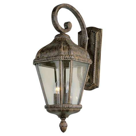 outdoor globe lighting trans globe lighting 2 light outdoor burnished rust wall