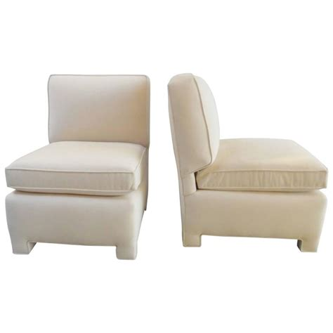 billy baldwin slipper chair pair of billy baldwin small club chairs at 1stdibs