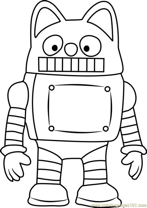 Penguin Cartoon Coloring Page
