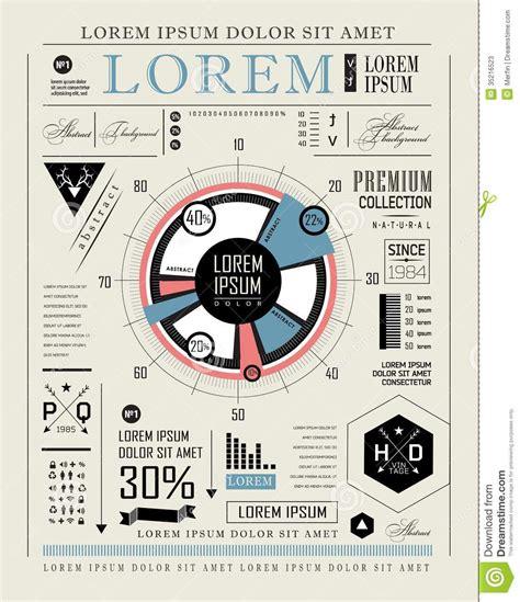 typography information retro infographic typography set stock photos image