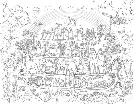 printable coloring poster noah s ark colouring in poster by really giant posters
