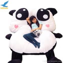 2017 fancytrader cartoon giant panda beanbag soft stuffed