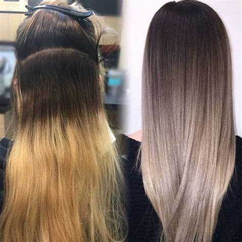 should wash hair before bayalage before and after transformation by lisalovesbalayage