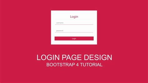 layout bootstrap login login page design simple bootstrap template youtube