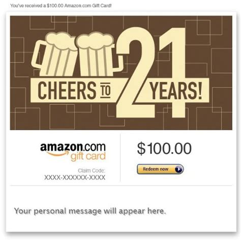 Where To Buy Beer Store Gift Cards - amazon egift card 21st birthday beer
