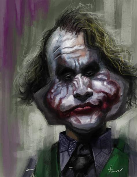 imagenes the joker heath ledger caricatura de heath ledger como joker