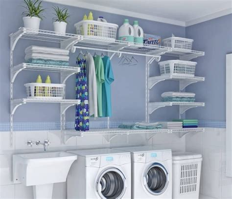 wired shelving ideas for decorating laundry room decolover net Laundry Room Decor And Accessories
