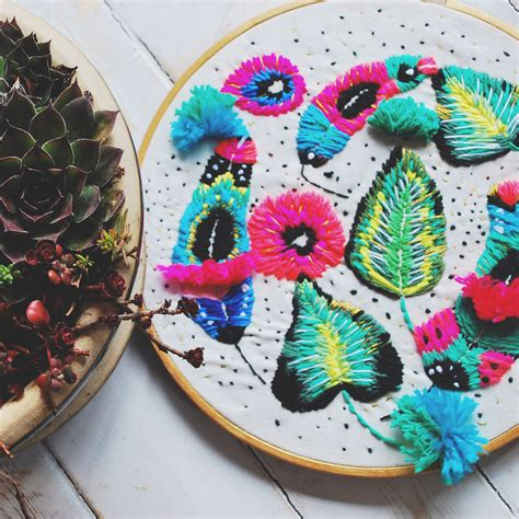 biele graphics katy biele crafts textural hoop art inspired by nature