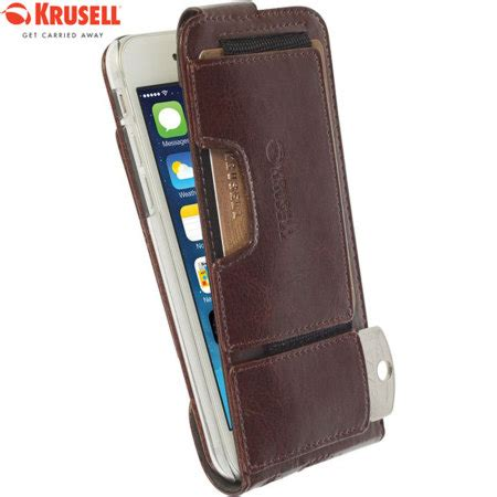 Htc U11 Style Leather Casing Cover krusell ekero iphone 6s 6 leather style flip wallet