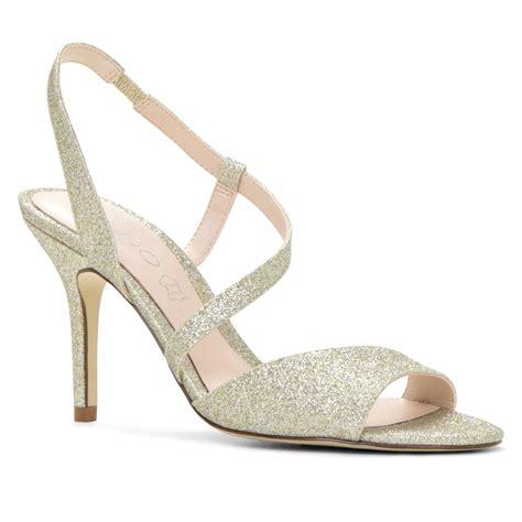 aldo high heel sandals aldo emelinia occasion high heel sandals in metallic lyst
