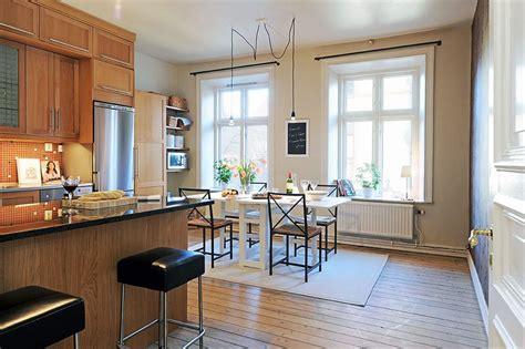 beautiful apartment interior design  sweden