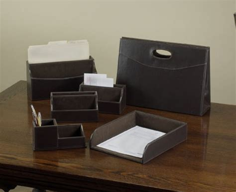 China Leather Office Desk Accessories Hr603 China Desk Office Accessories