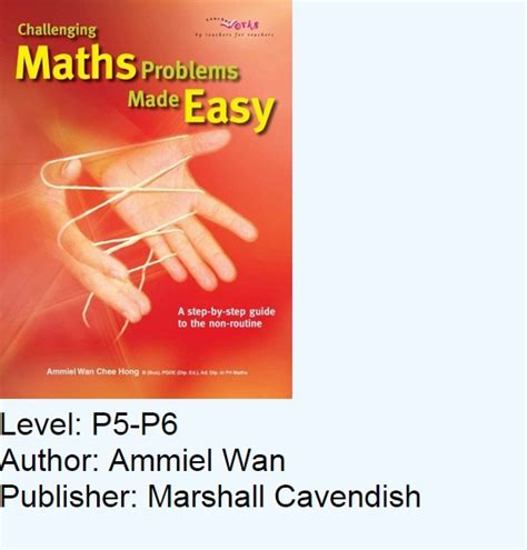 challenging math problem top 10 assessment books popular with parents tutors