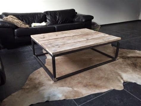 ronde salontafel hout staal hout staal salontafel hout staal salontafel pinterest