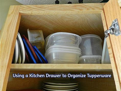 How To Organize Tupperware Drawer by Using A Kitchen Drawer To Organize Tupperware
