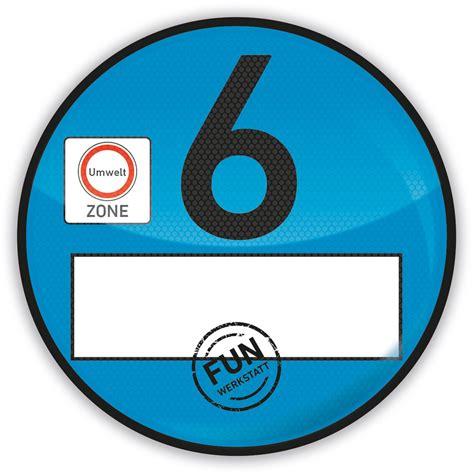 Aufkleber Euro 6 by Haftfolie Euro 6 Plakette Blau Umweltplakette